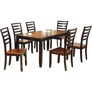 Hidalgo 7 Piece Extendable Solid Wood Dining Set Millwood Pines