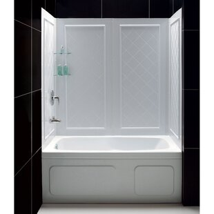 Bargain Qwall SlimLine 60 H x 56 W x 28 D Shower Wall By DreamLine