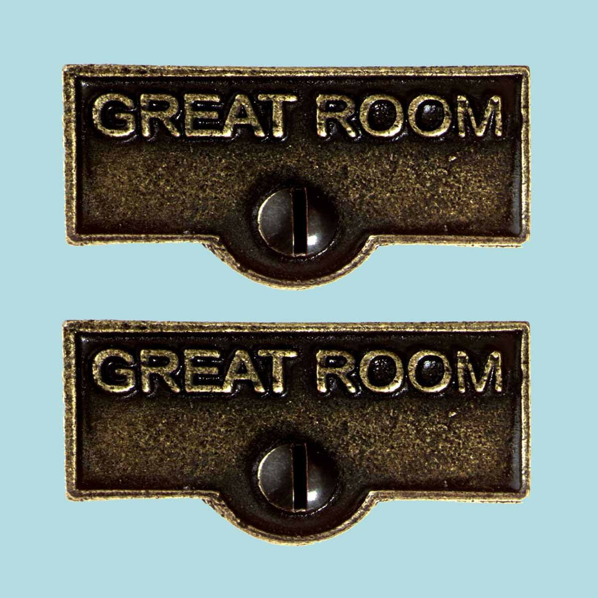 The Renovators Supply Inc Great Room Name Signs Labels Switch Plate Tag Wayfair