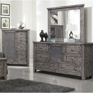 Roberson 6 Drawer Combo Dresser with Mirror