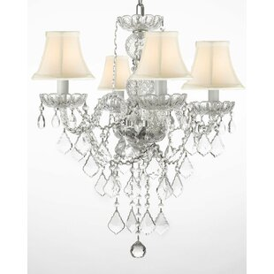 Hoffman 4-Light Shaded Chandelier by Rosdorf Park