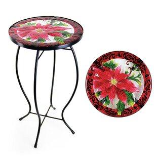 Exhart Poinsettia Bistro Table