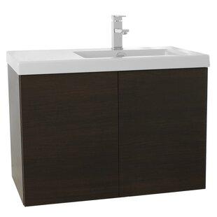 Space 39 Wall-Mounted Single Bathroom Vanity Set by Nameeks Vanities