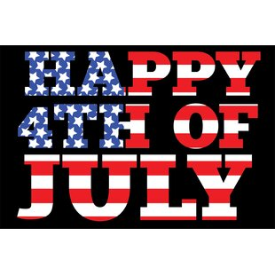 Shop For Shoreview Happy Fourth of July Blue/Red/Black Area Rug ByThe Holiday Aisle