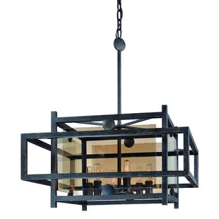 Pascal 6-Light Square/Rectangle Pendant by 17 Stories