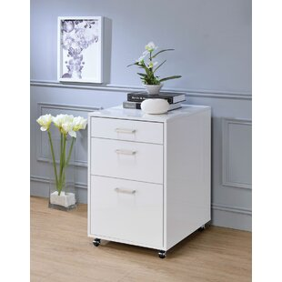 Kelemen 3-Drawer Mobile File Cabinet