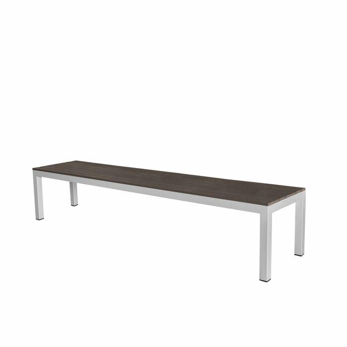 Enjoyable Vienna Backless Aluminum Picnic Bench Ibusinesslaw Wood Chair Design Ideas Ibusinesslaworg