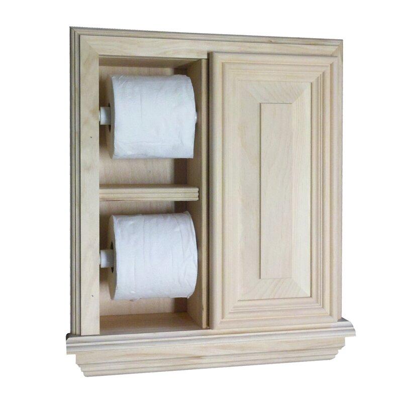 WG Wood Products Recessed Deluxe Toilet Paper Holder | Wayfair