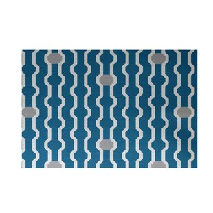 Affordable Uresti Decorative Holiday Geometric Print Turquoise Indoor/Outdoor Area Rug By Wrought Studio