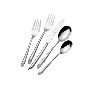Wave 20 Piece 18/0 Stainless Steel Flatware Set, Service for 4