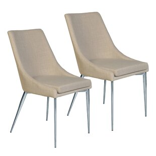 Kersten Upholstered Dining Chair (Set Of 2) by Latitude Run Today Only Sale