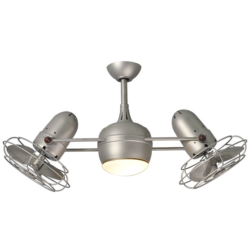 """17 Stories  39"""" Valerian 6 Blade LED Ceiling Fan with Wall Remote"""