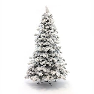 heavy flocked white artificial christmas with 700 clear lights
