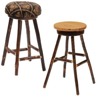 Hickory 24 Swivel Bar Stool Fireside Lodge