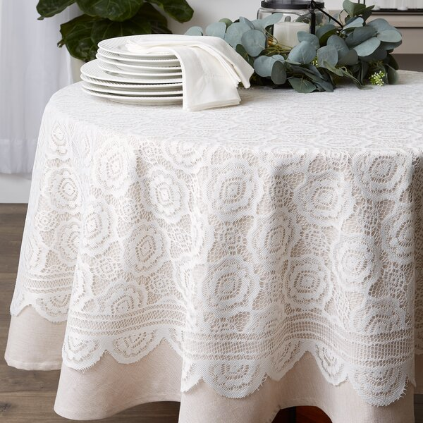 Chic Lace Victorian Style Table Runners White Oval Square Various sizes