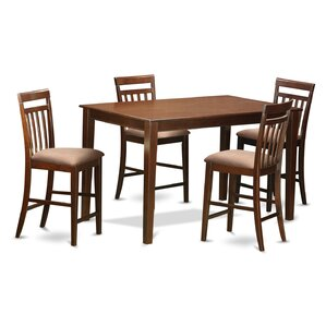 Dudley 5 Piece Counter Height Pub Table Set by East West Furniture