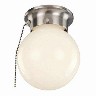 TransGlobe Lighting Idlewyld 1-Light Flush Mount