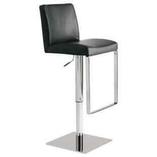 Nehls Adjustable Height Swivel Bar Stool by Orren Ellis