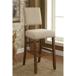 Shaniya Counter Height Upholstered Bar Stool (Set of 2) by One Allium Way