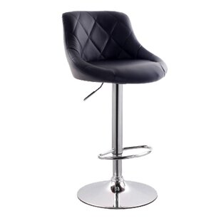 Secaucus Adjustable Height Bar Stool by L..