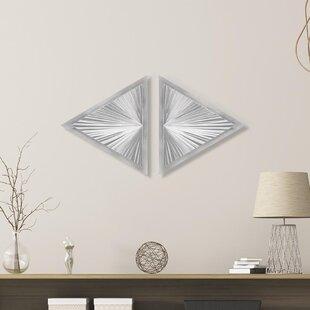 2 Piece Shining Diamond Wall Décor Set