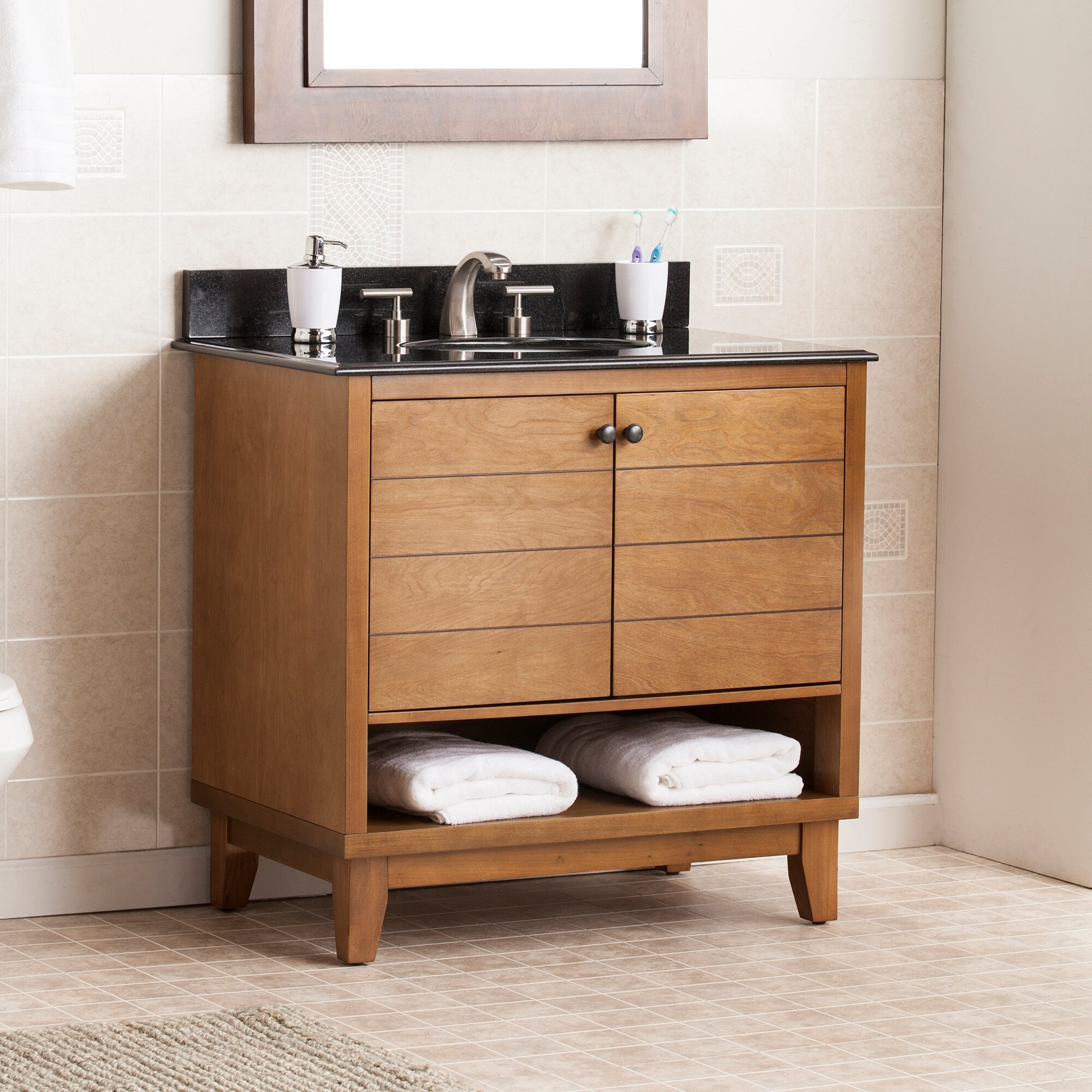 Highland Dunes Tata 34 Single Bath Vanity Set Reviews Wayfair