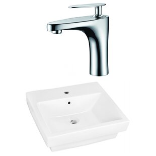 Inexpensive Ceramic Rectangular Bathroom Sink with Faucet and Overflow By Royal Purple Bath Kitchen