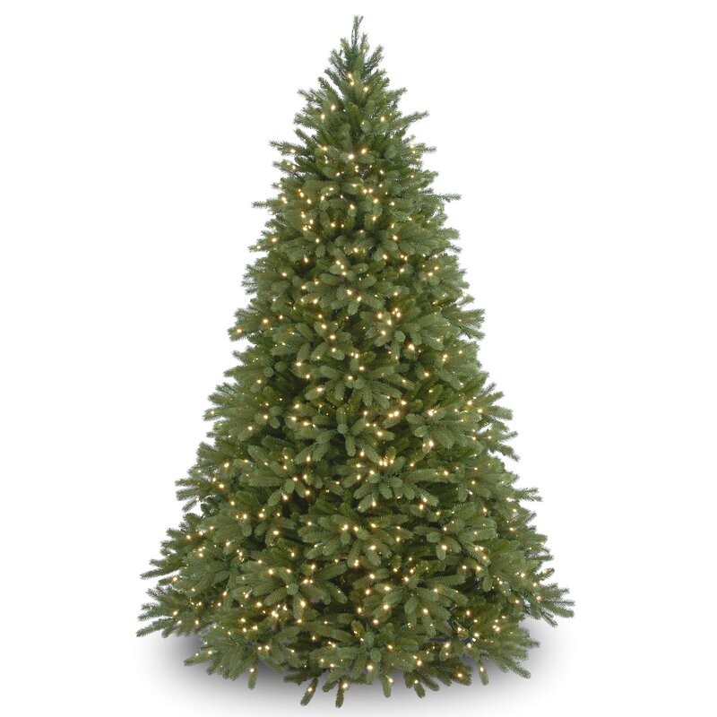 75 green fir artificial christmas tree with 1250 lights with stand