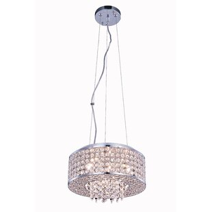 Anglesey 4-Light Crystal Pendant by House of Hampton