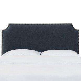 Aileen Notched Nail Button California King Upholstered Panel Headboard