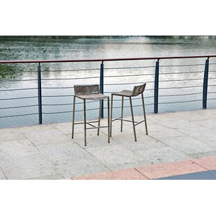 Iverson Outdoor Patio Bar Stool (Set of 4) by Bayou Breeze