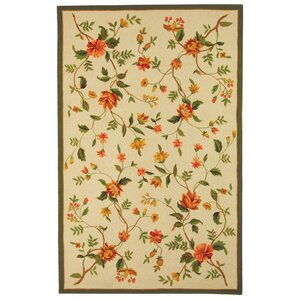 Isabella All Over Beige Floral Rug