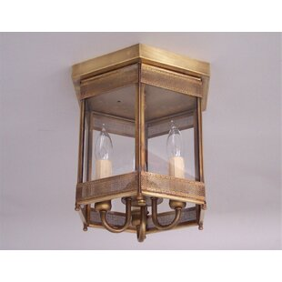 Darby Home Co Chearsley Industrial 3-Light Flush Mount