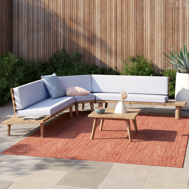 Calloway 4 Piece Sectional Seating Group with Cushions