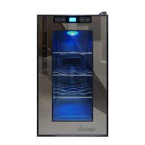 8 Bottle Single Zone Freestanding Wine Cooler by Vinotemp