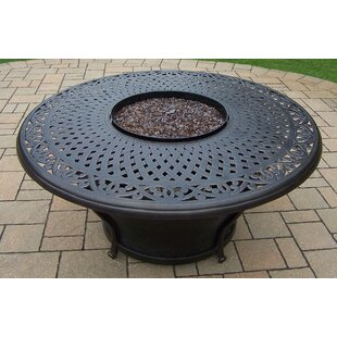Oakland Living Charleston Aluminum Propane Fire Pit Table