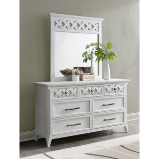 Mendocino 7 Drawer Double Dresser with Mirror