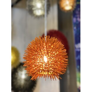 Urchin Mini Pendant in Electric Pumpkin by Varaluz