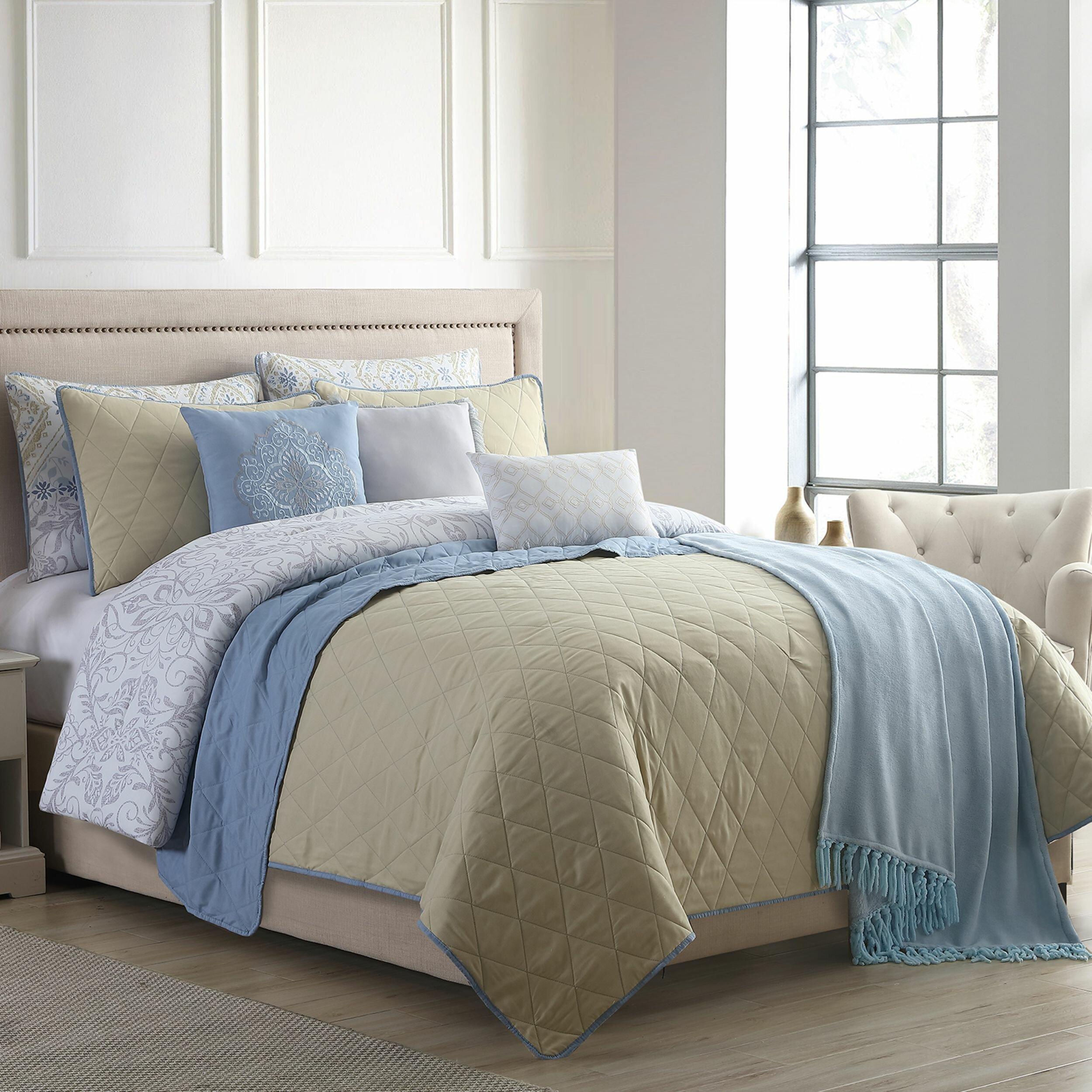 Ebern Designs Elta Reversible Comforter Set Wayfair