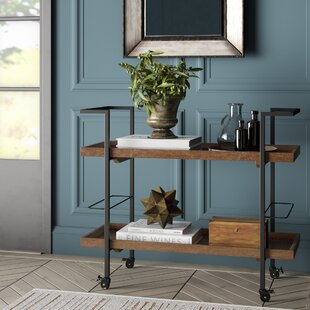 Drucilla Wooden Bar Cart by Williston Forge