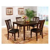 Moser Transitional Style 5 Piece Solid Wood Dining Set by Winston Porter