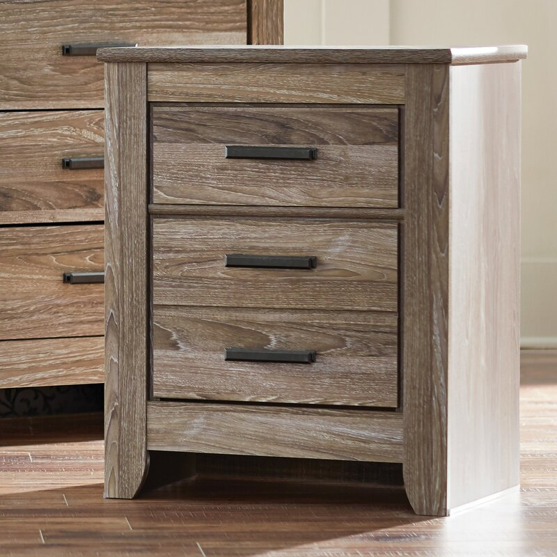 Orange 2 Drawer Nightstand