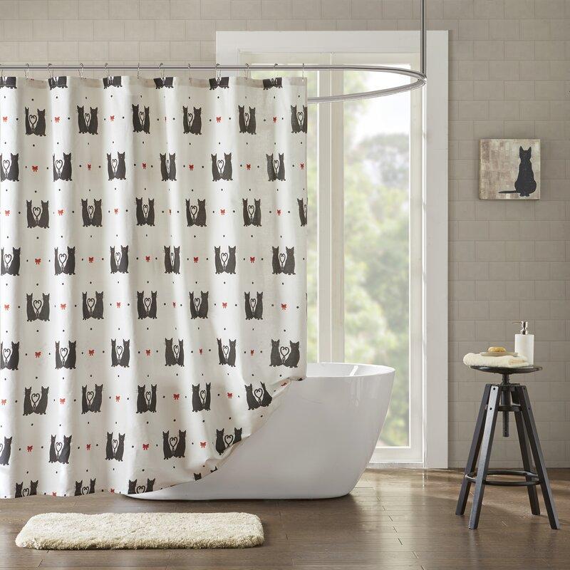 Cervantez Printed 100 Cotton Shower Curtain