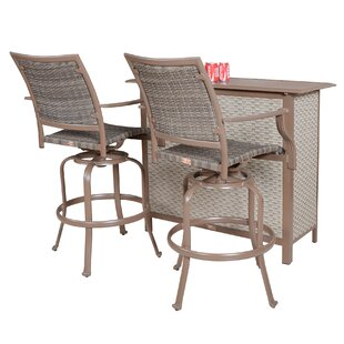 Panama Jack Outdoor Island Cove 3 Piece Bar Set