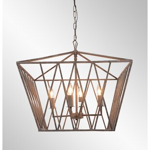 Gracie Oaks Briele 4-Light Lantern Pendant