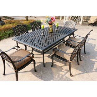 Bale Aluminum 7 Piece Dining Set with Cushions