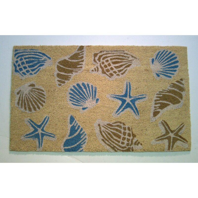 Highland Dunes Darrell Seashells 30 In X 18 In Non Slip Outdoor Door Mat Reviews Wayfair