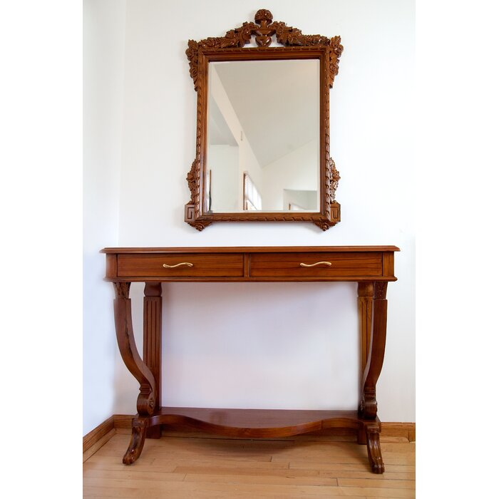 Regal French Style Console Table And Mirror Set