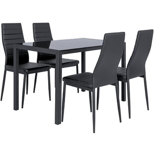 Cresson Dining Set With 4 Chairs By Metro Lane