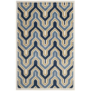 Seto Blue/Gold Indoor/Outdoor Area Rug